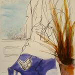 02-Wren-blue-table-ink-watercolour-Julie-Wyness