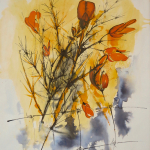 03-Gorse1-ink-watercolour-Julie-Wyness