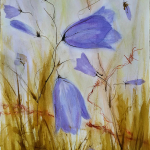 10-Bluebell-barbed-wire1-ink-watercolour-Julie-Wyness