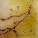 13-Bluebell-barbed-wire3-ink-watercolour-Julie-Wyness