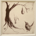 19-Wren-and-pear-tree-Julie-Wyness-printmaking-photoetching