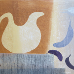 4-Monkey-with-blue-bananas-Julie-Wyness-printmaking