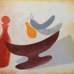 7-Brown-dish-blue-bananas-Julie-Wyness-printmaking-monoprint